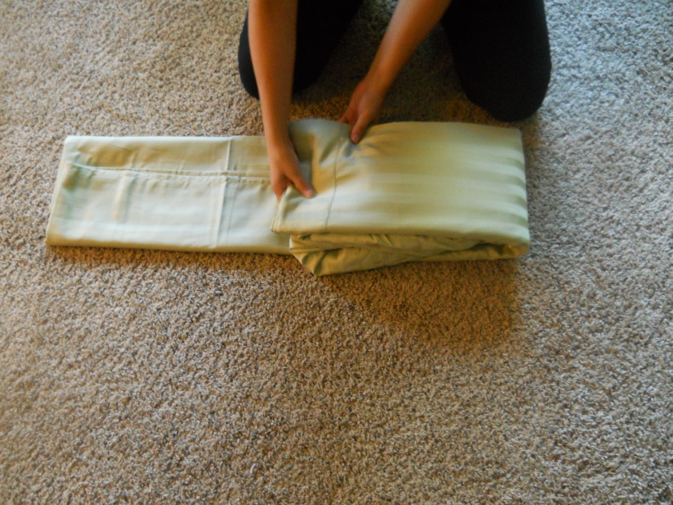 Put the Fitted Sheet and Flat Sheet Together