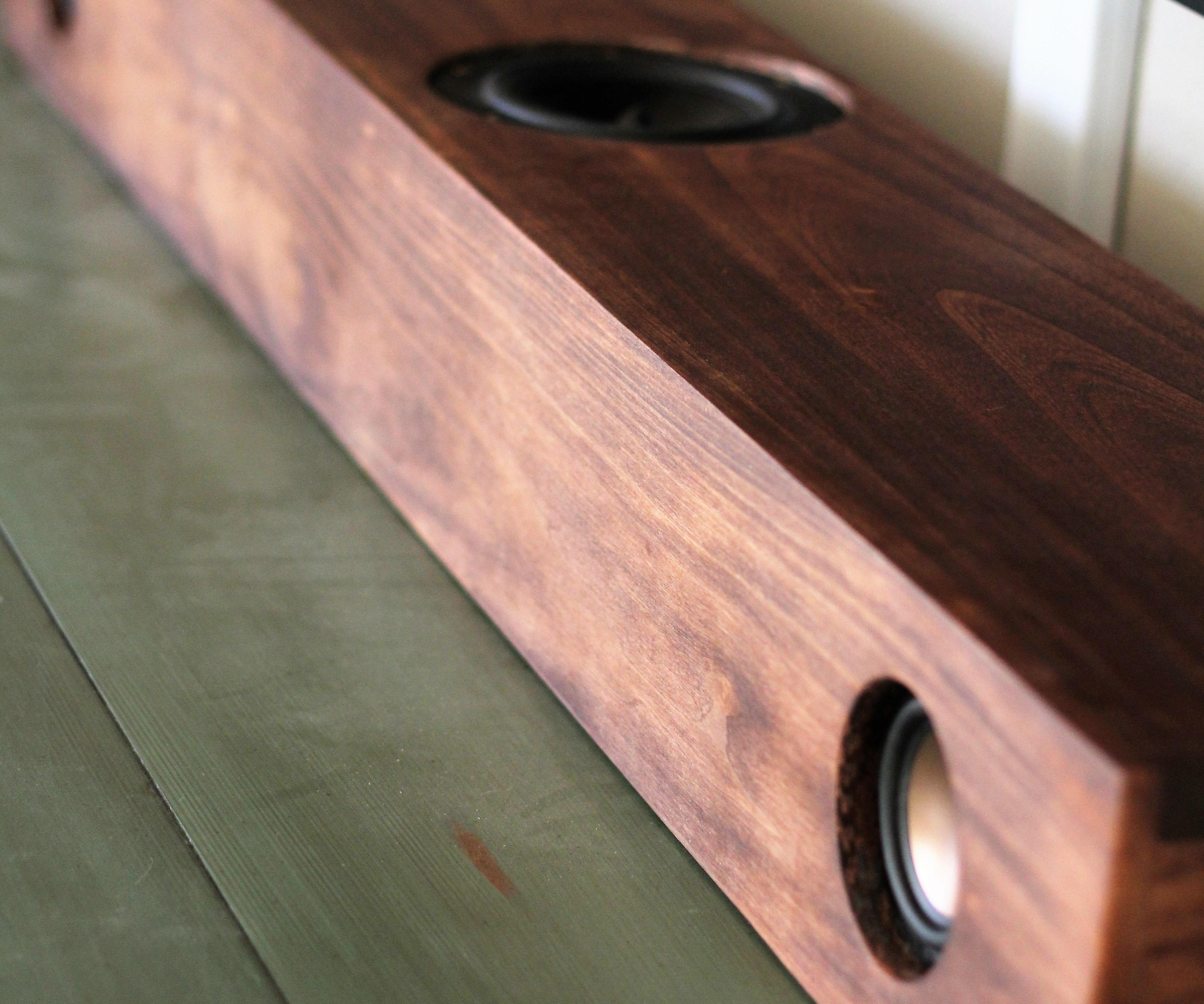 Powered Rustic Speaker Bar with Bluetooth