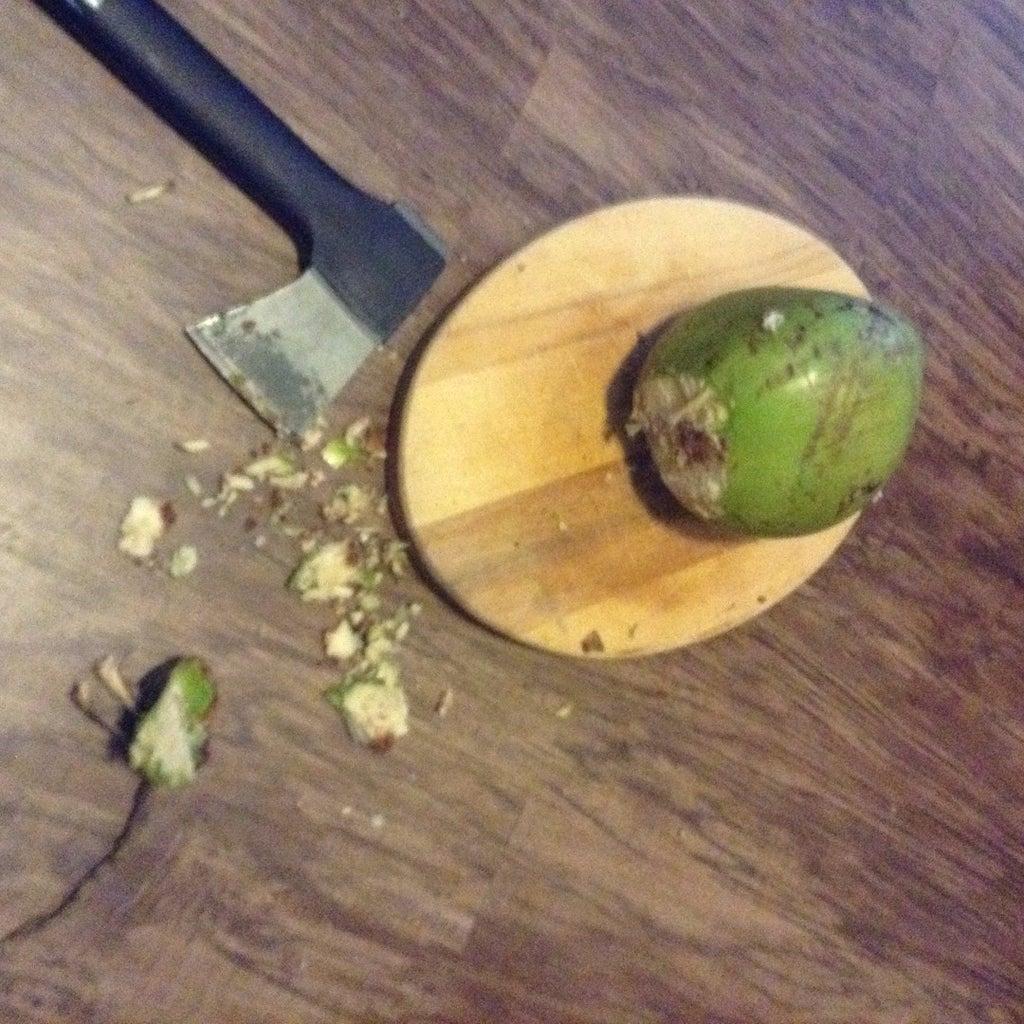 Cut Head Off of Coconut