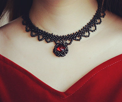Pandahall Original DIY Project - Vintage Black Seed Bead Choker Necklace