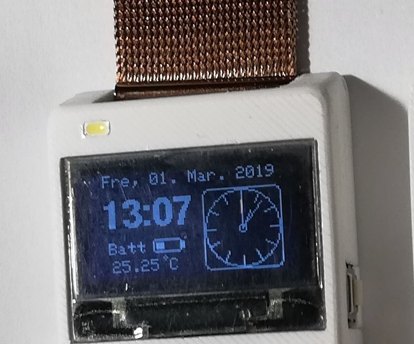 New 3D-printed OLED Wrist-Watch