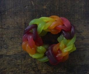 Giant Edible Rainbow Loom Bracelet!