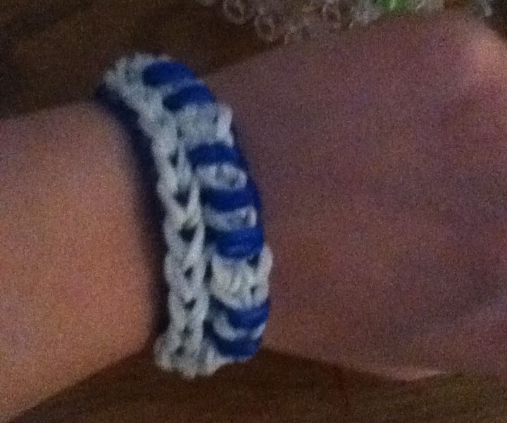 Rainbow Loom Piano Bracelete (WITH ONE LOOM)