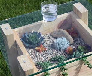 Faux-Succulent Side Table