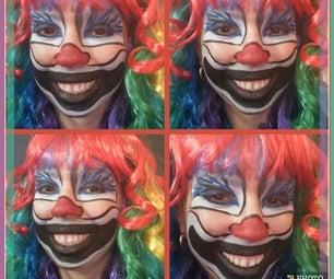 Crazy Clown Face Paint