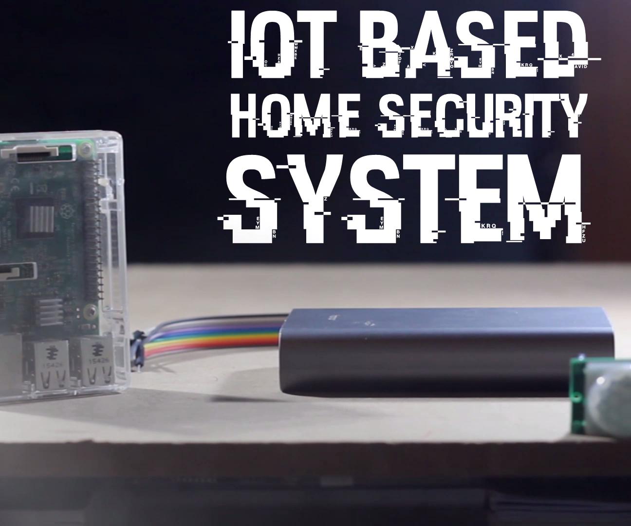 IoT Based Home Security system ( Raspberry + Cayenne + PIR Sensor )