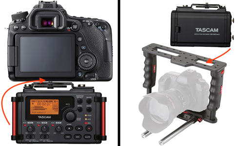 Mounting the Digital Audio Recorder