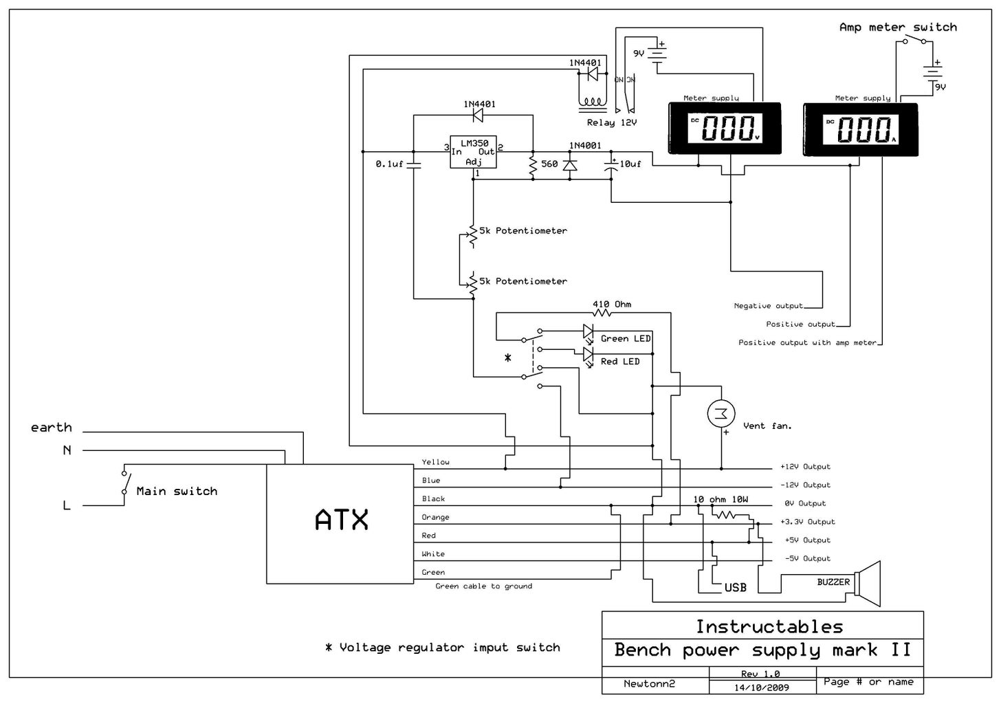 Soldering the Cables, Schematic