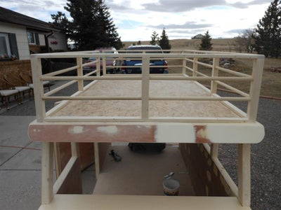 Security Rail/faux Cargo Rack and Ladder