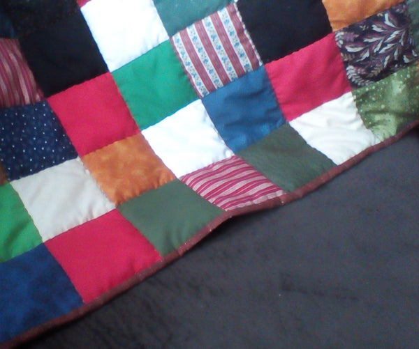 Hand-sewn Scrap Quilt