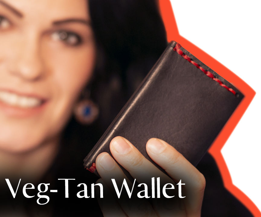 Easy Vegetable Tanned Leather Minimal Wallet