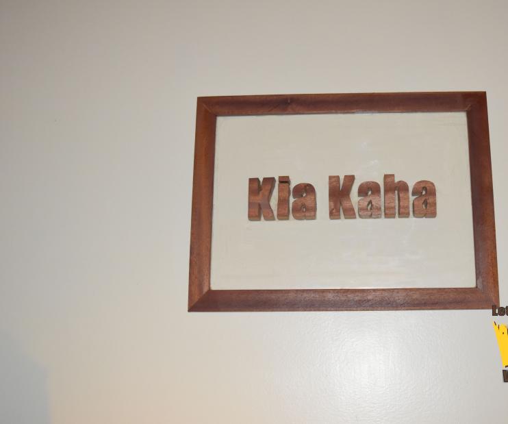 Kia Kaha wall sign