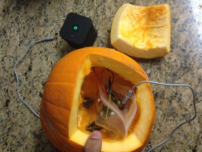 Adding the Circuit to the Jack-o-lantern