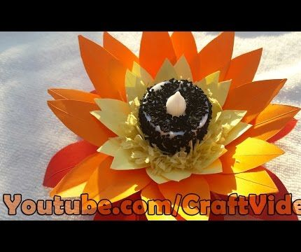 How to make paper flower candle decoration