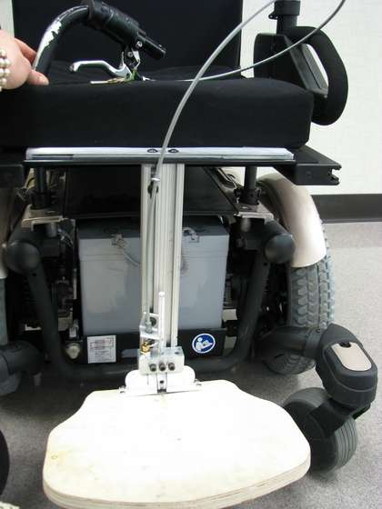 Instructions on Completing Mock-Up of Spring-Loaded Design for Lift/Lower of Center-Mounted Footrests on Power Wheel Chairs