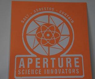 Vintage Aperture Science Logo