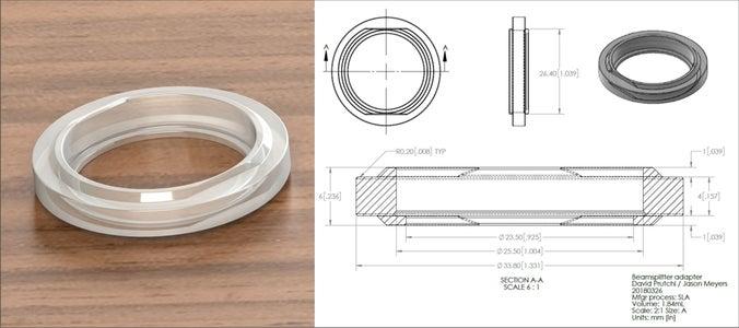 3D-Printing Beamsplitter Adapter Rings