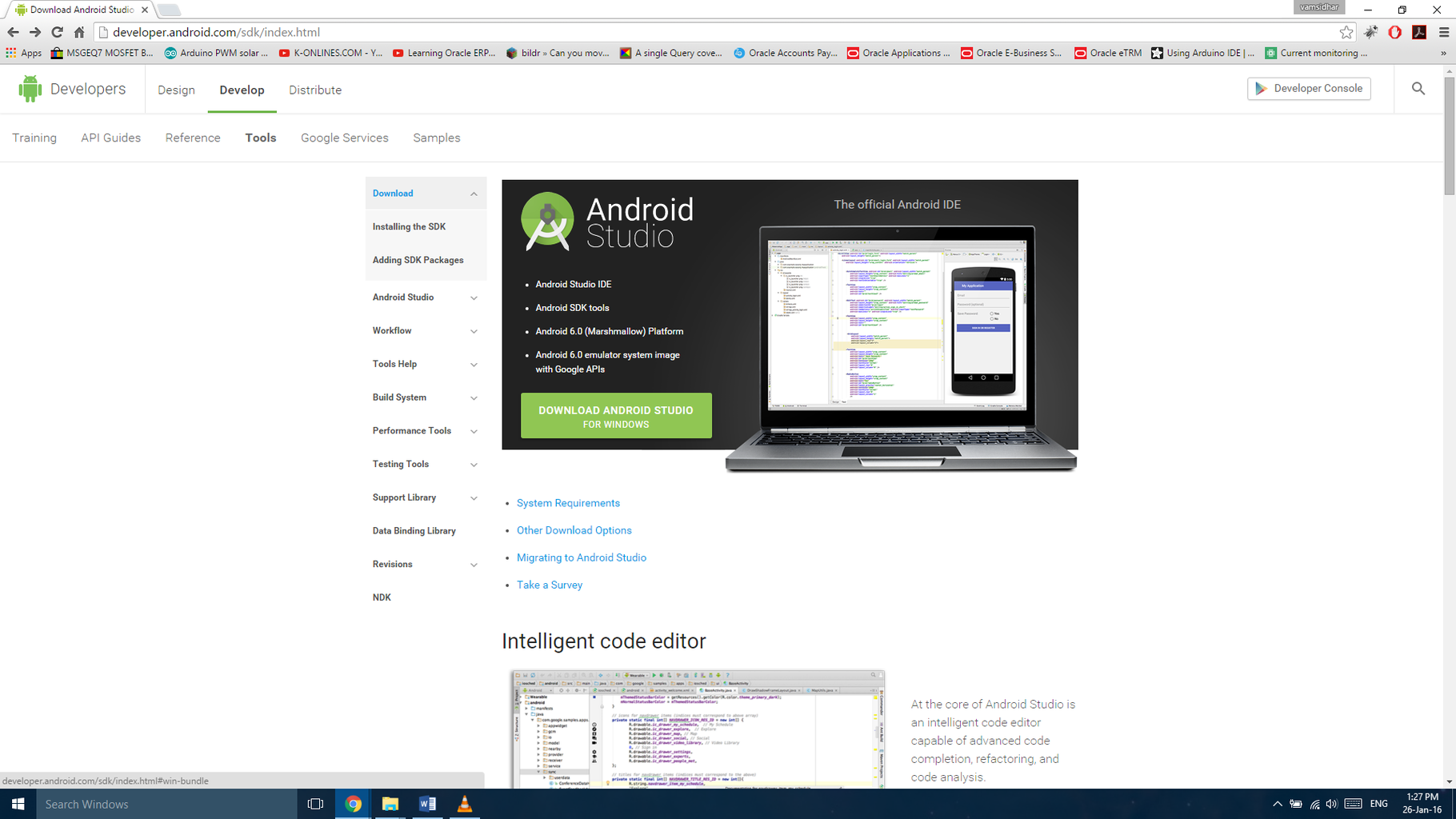 Downloading Android Studio