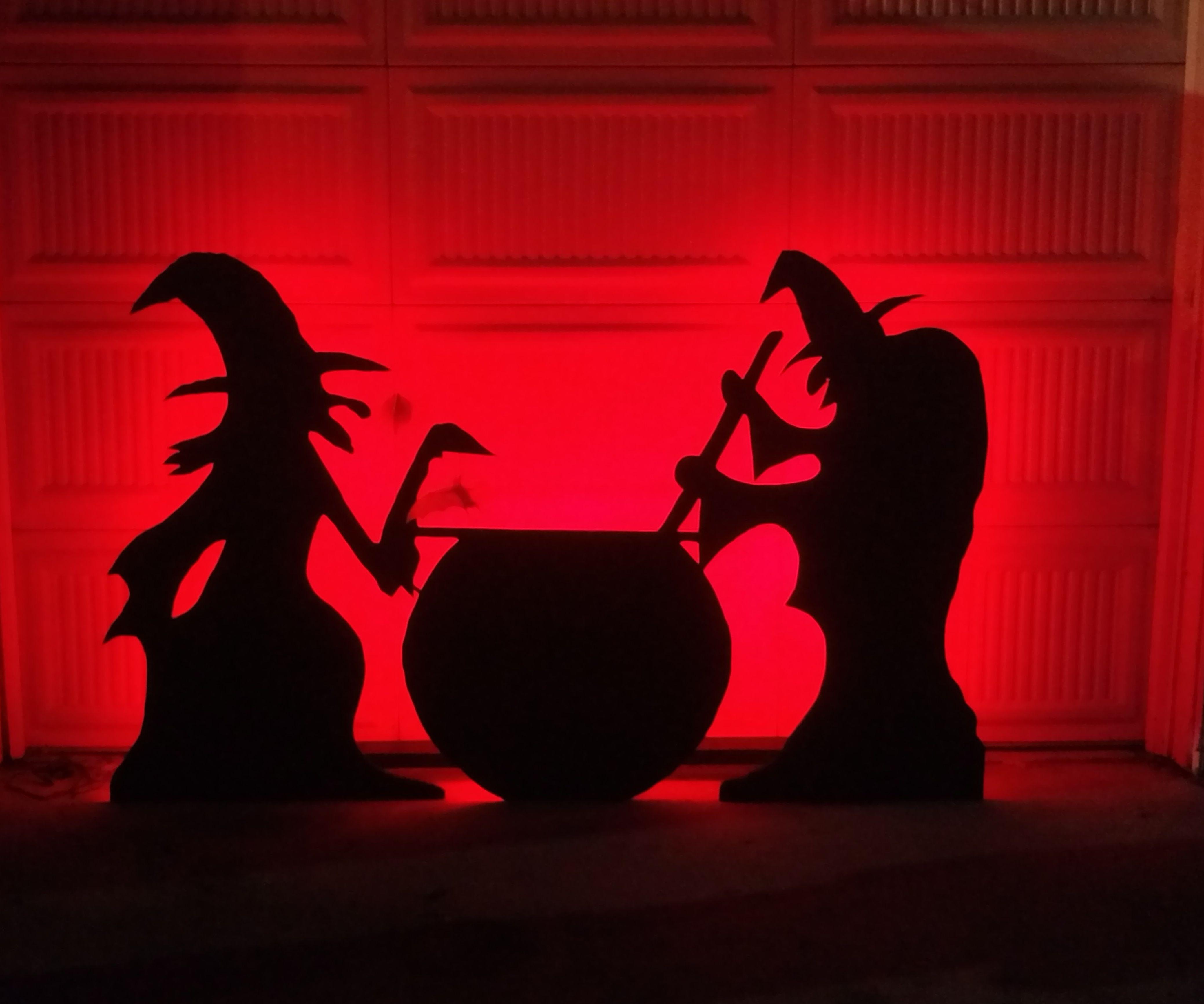 Another Halloween Garage Door Silhouette