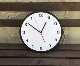 MDF and Acrylic Reverse Clock