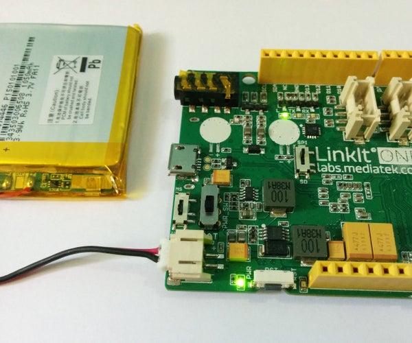 LinkIt One - Battery Level Indicator