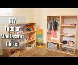 Toddler Montessori Closet // Free 3D Plans! // DIY Woodworking Kids Furniture