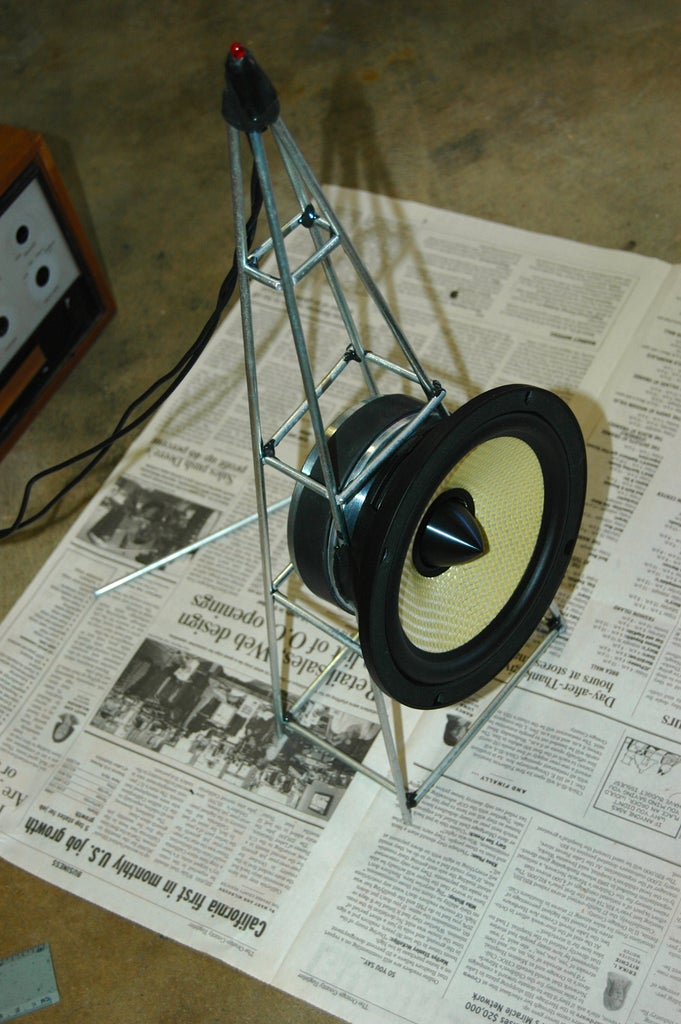 Glue Your Radio Tower Together and Attach the Speaker