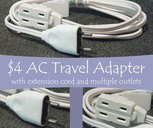$ 4交流旅行适配器扩展线