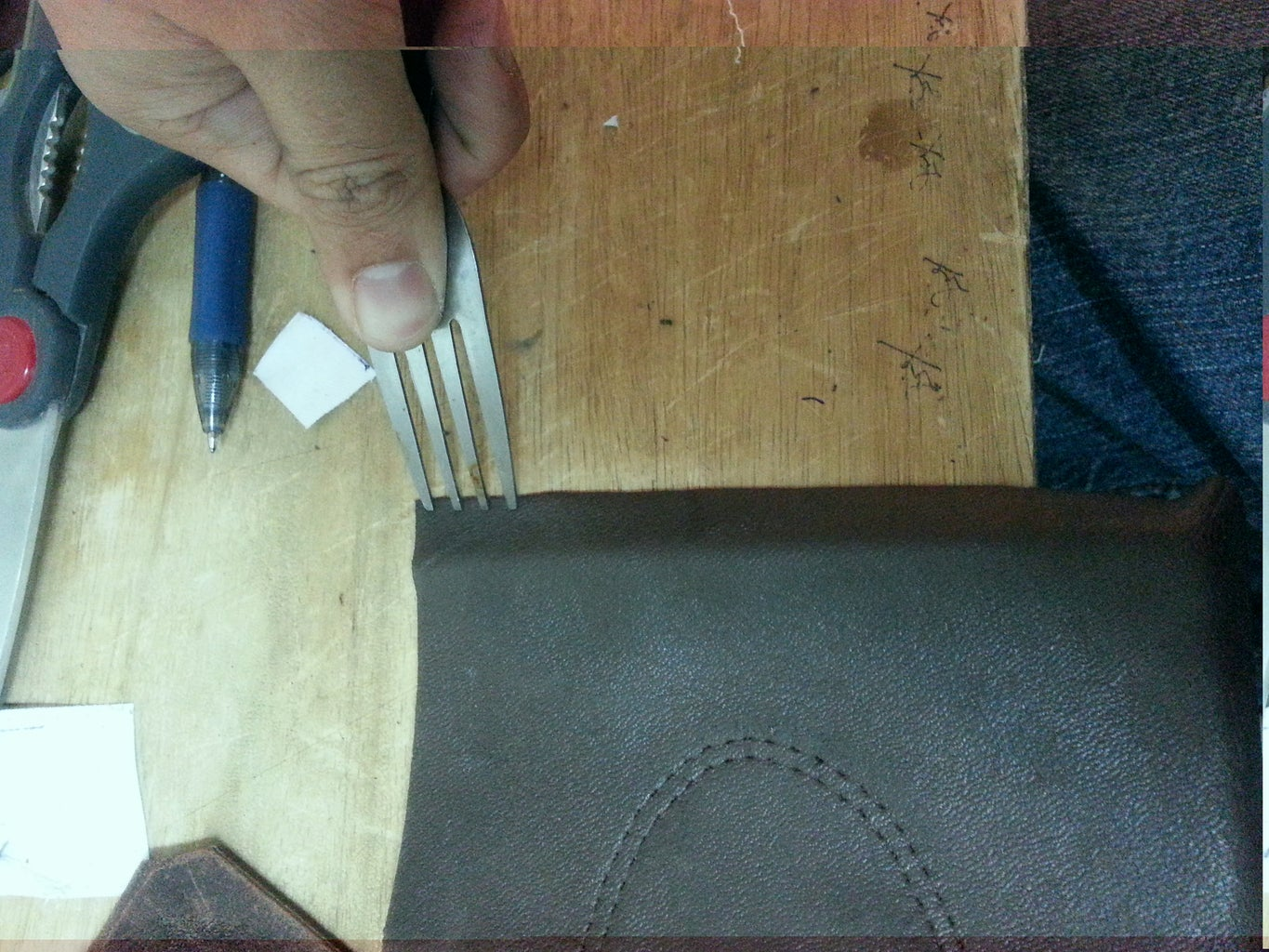 Punching Holes, Stitching the Bottom and Adding the Puller