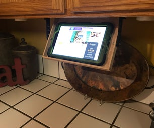 Under Cabinet Hideaway Tablet Shelf