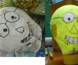 Concrete Art.making Mr. KNOWLEDGE's Head.(too Easy)
