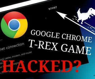 HACKED! Google Chrome Offline T-Rex Game