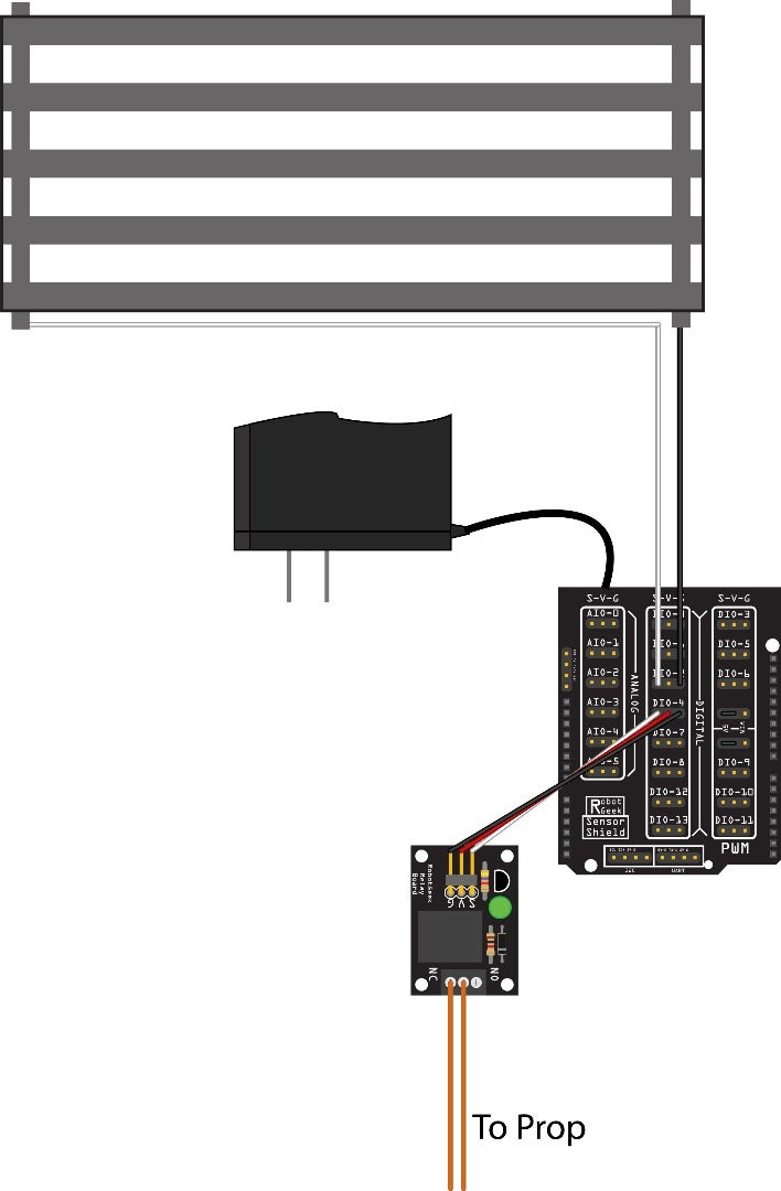 Wiring a RobotGeek Relay to Simulate a Pushbutton