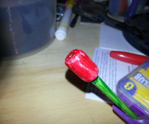 Hand Carved Wooden Rose