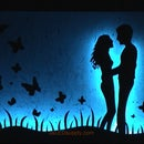 LED Silhouette Art~ color changing!