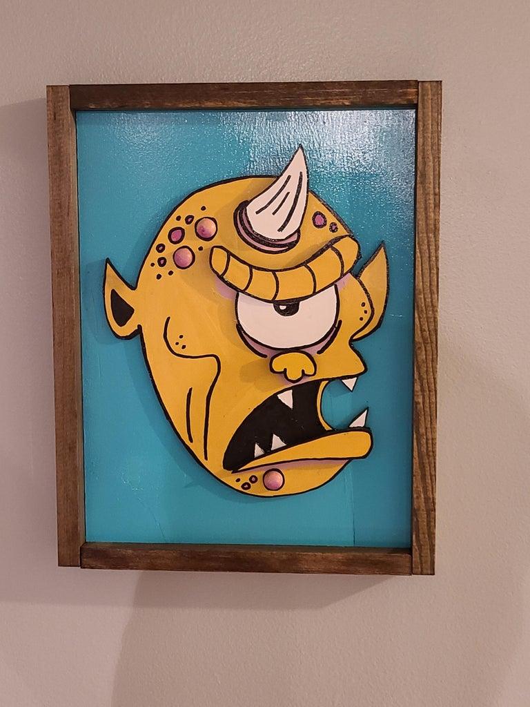 Monster Wood Cut Out Art