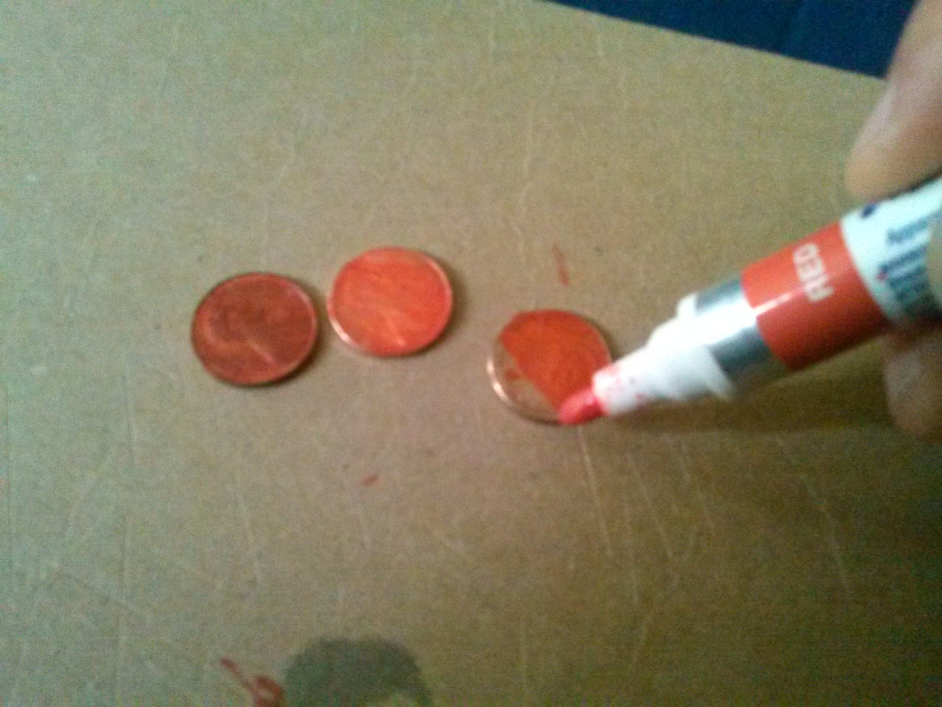 I Used a Red Paint Marker and Here Are the Pictures and Some Comparisons of Normal and Red Pennies.