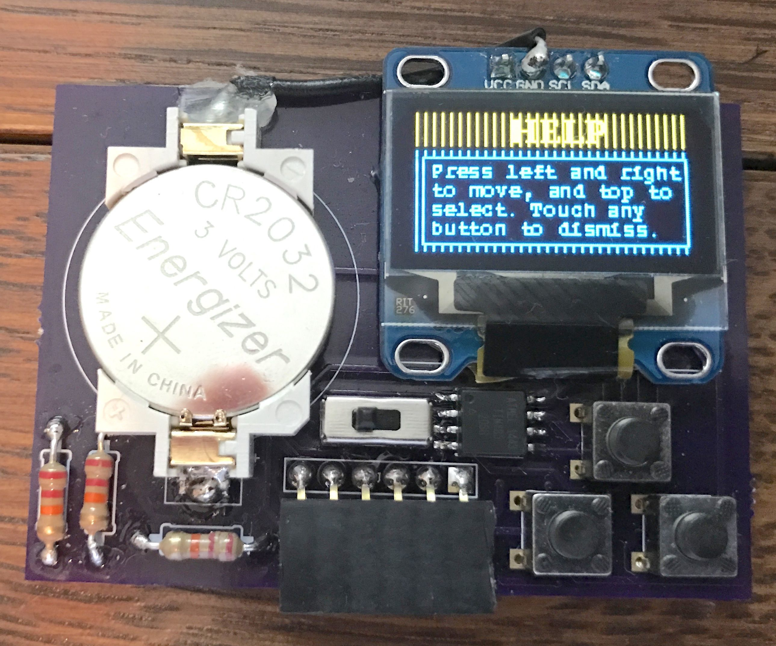 Business Card/Game Console: ATtiny85 and OLED Screen