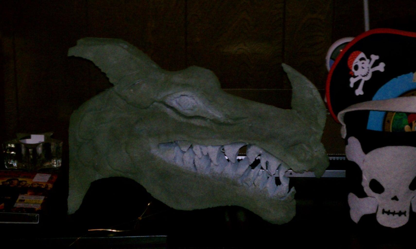 Carving Te Dragon's Head