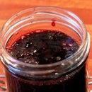 Deliciosa mermelada de bluberry de arándanos congelados