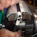 Preventing Splintering While Cutting Fiberglass Rod