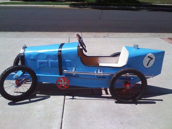 Bugatti Inspired Pedal Car W/Bike Wheels