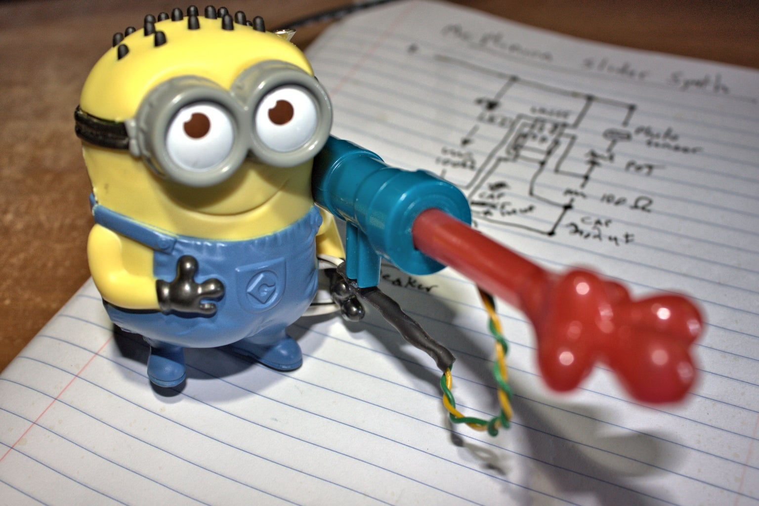 How to Hack a McDonald's Happy Meal Minion Into an Electric Slide Whistle