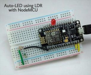 Auto-LED Using LDR With NodeMCU