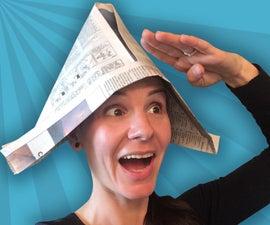 Captain's Newspaper Hat
