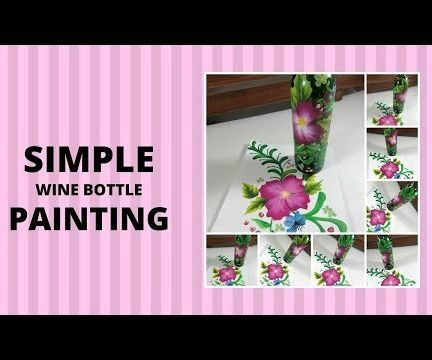 SIMPLE WINE BOTTLE PAINTING