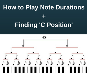 """How to Play Note Durations on the Piano + Finding 'C Position"""""""