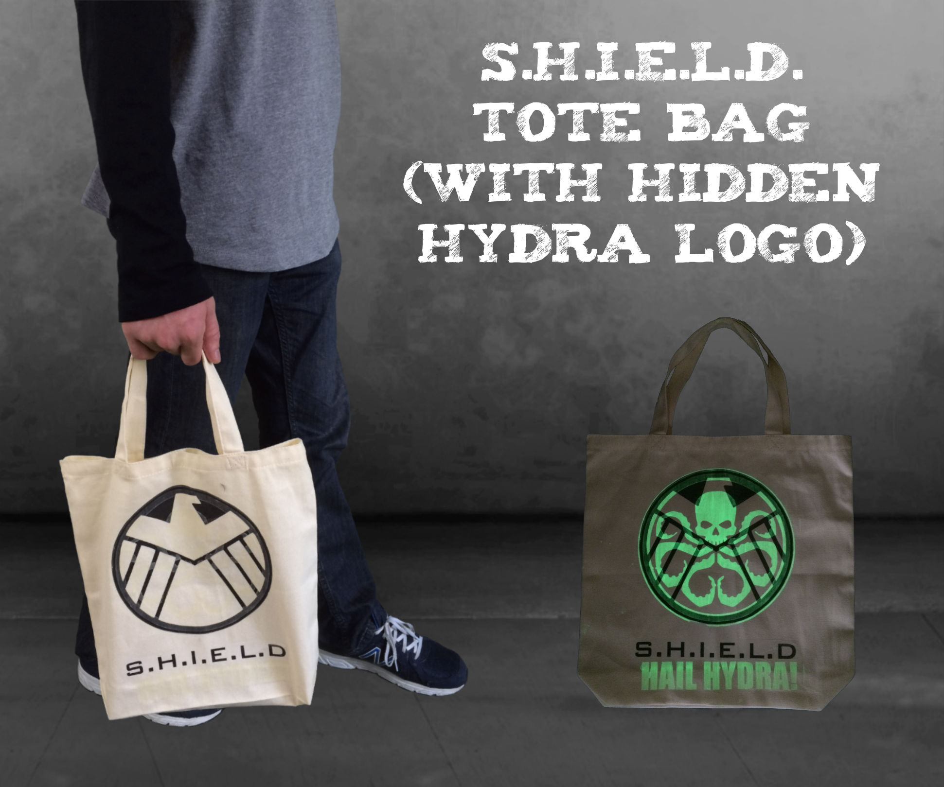 S.H.I.E.L.D. Tote Bag (With Hidden Hydra Logo)