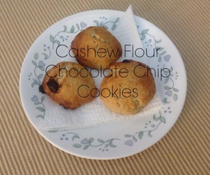 Cashew Flour Chocolate Chip Cookies