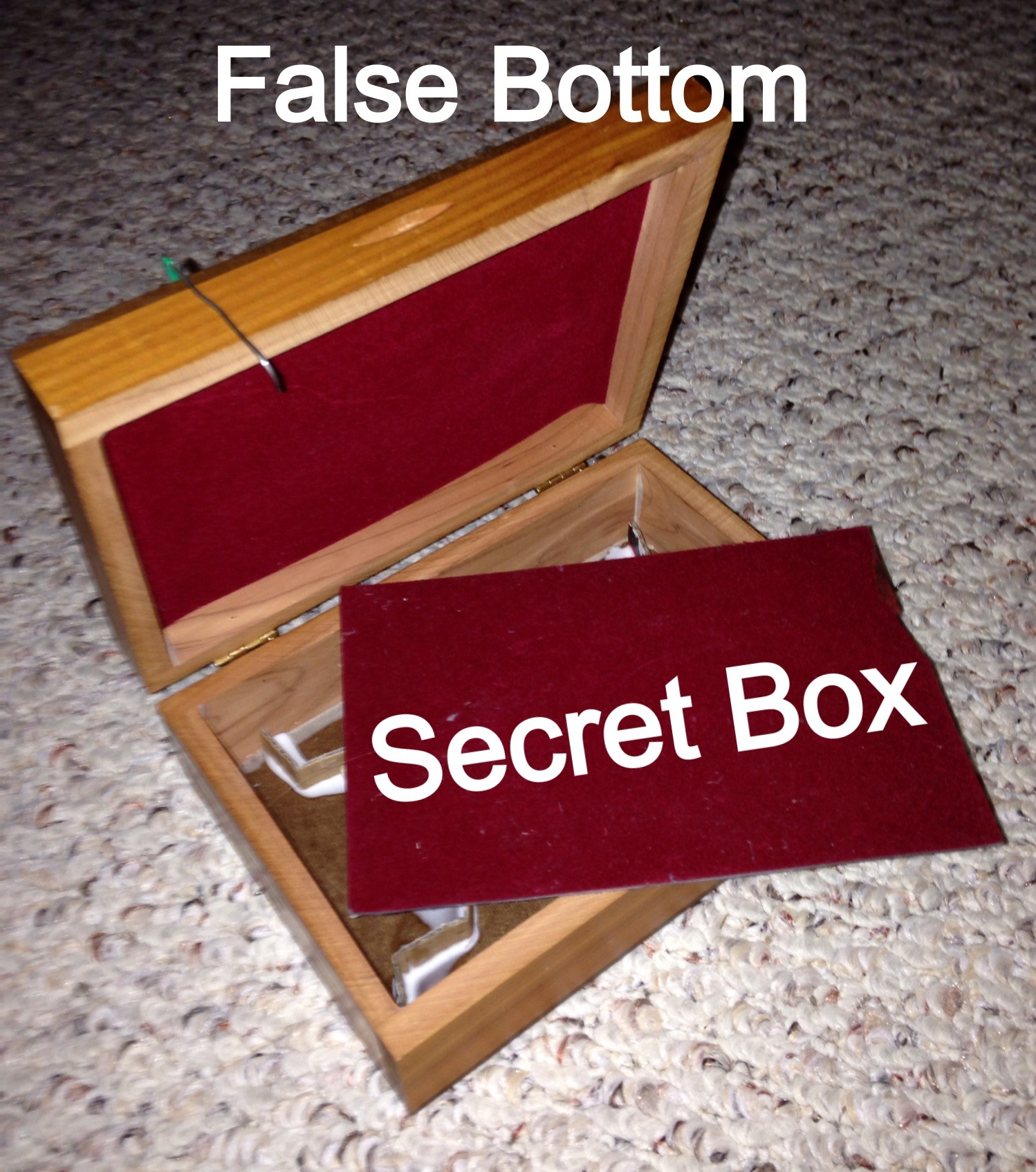 False Bottom Wooden Box